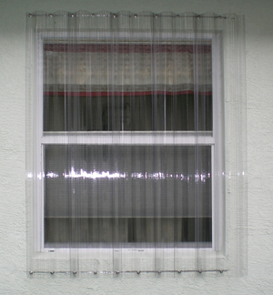 Corrugated plastic hurricane panels